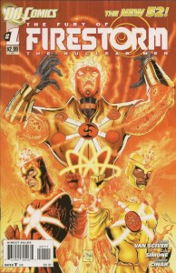 Cover to DC Comics The Fury of Firestorm: The Nuclear Men, written by Gail Simone and Ethan Van Sciver, penciled by Yildray Cinar