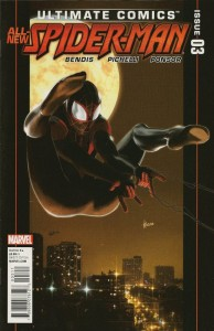 Marvel Comics Ultimate Spider-Man #3, written by Brian Michael Bendis with pencils by Sara Pichelli
