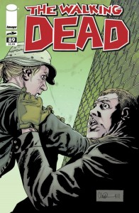 Cover to Image Comics The Walking Dead, written by Robert Kirkman, pencils by Charlie Adlard