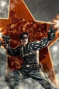 Teaser for Marvel's Winter Soldier #1, written by Ed Brubaker and drawn by Butch Guice